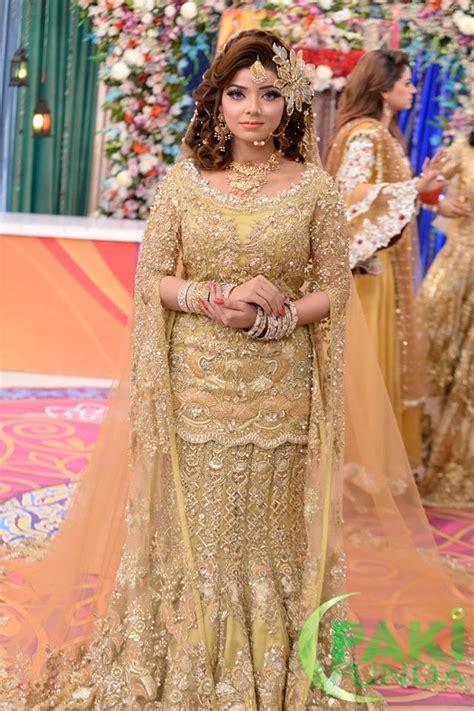 Latest Pakistani Bridal Walima Dresses, Makeup and