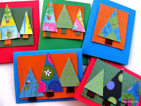 Christmas craft ideas for kids this is especially important at the holidays because christmas can be expensive enough already without spending money on the. The Joy of My Life, and other things: Kids Craft: Stitched Xmas Cards and Pine Tree Cards