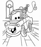Garage Coloring Pages Getcolorings Mater sketch template