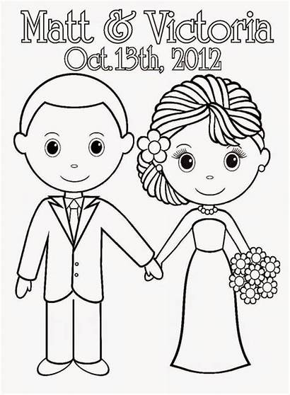 Coloring Pages Bride Printable Sheets Groom Couple