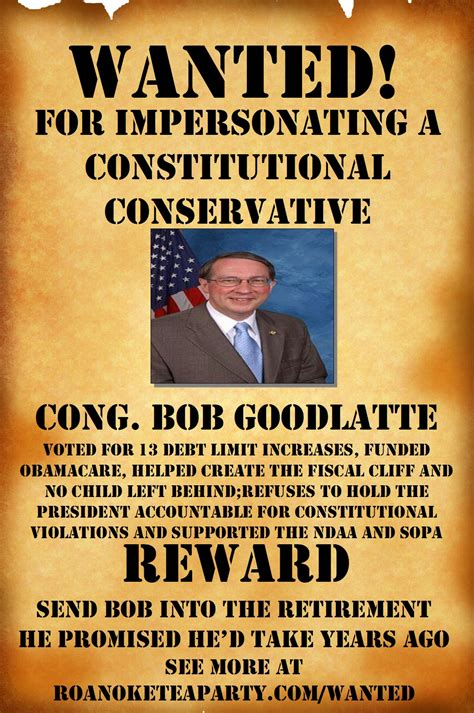 More Wanted Posters Will Be Needed | Roanoke Tea Party