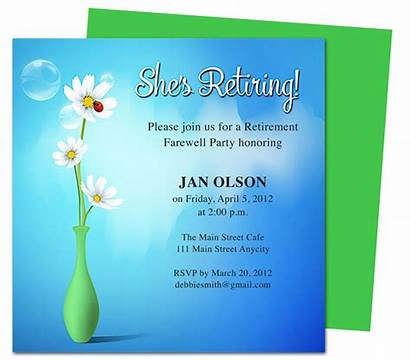 Retirement Party Invitations Invitation Create Templates Word
