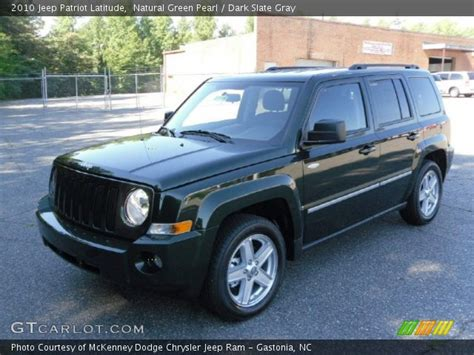 dark green jeep patriot natural green pearl 2010 jeep patriot latitude dark