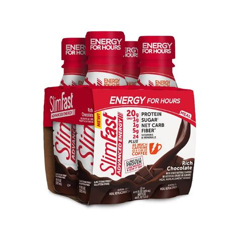 slimfast advanced energy high protein ready  drink meal