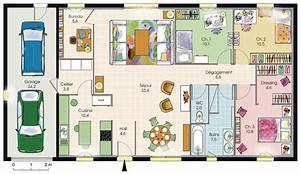 plan maison plain pied 3 chambresjpg 1175x680 plan With plan de construction d une maison