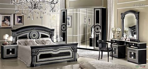 Aida Black w/Silver, Camelgroup Italy, Classic Bedrooms, Bedroom Furniture