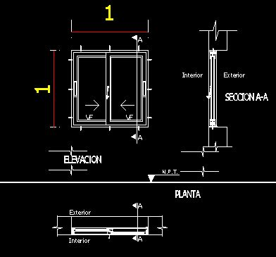 aluminium sliding window dwg detail  autocad designs cad