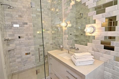 Mirrored Bathroom Wall Tiles by Mirrored Subway Tiles Uk Home Design Ideas