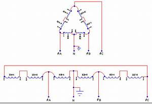 3 Phase Delta Transformer Schematics