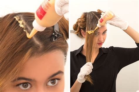Coloring Roots At Home by How To Color Hair At Home Step By Step Beautylish