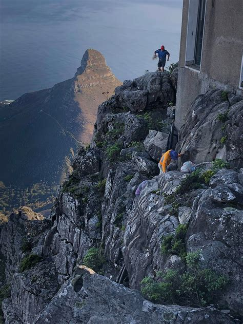 table mountain ledge cleanup report  climb za rock