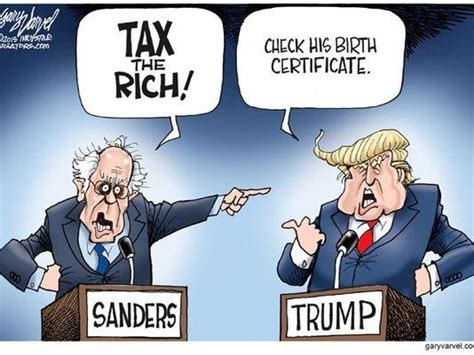 cartoonist gary varvel imagine  bernie sanderstrump debate