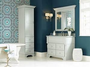 couleur salle de bains idees sur le carrelage et la peinture With salle de bain design avec peinture marine