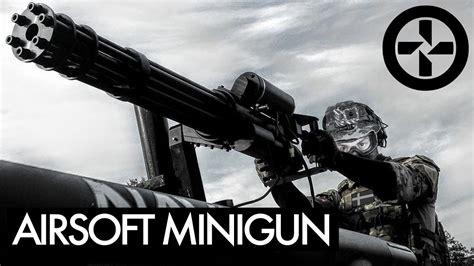 Airsoft Minigun Mounted On Truck