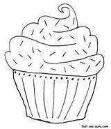 Coloring Muffin Cake Printable Birthday Blueberry Muffins Pages Adults Print Cakes Sheet Chocolate January Popular Coloringhome sketch template