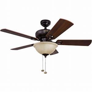 44, U0026quot, Honeywell, Woodcrest, Oil, Rubbed, Bronze, Ceiling, Fan, With, Bowl, Light, -, Walmart, Com