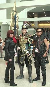Black Widow, Jarvan IV, and Hawkeye at AX 2013 by trivto ...