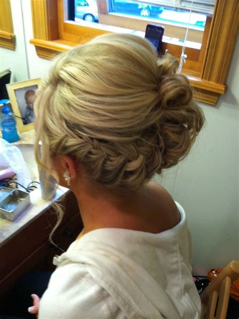 Updo Hairstyles With Braid by 30 Bridesmaid Hairstyles For Hair Popular
