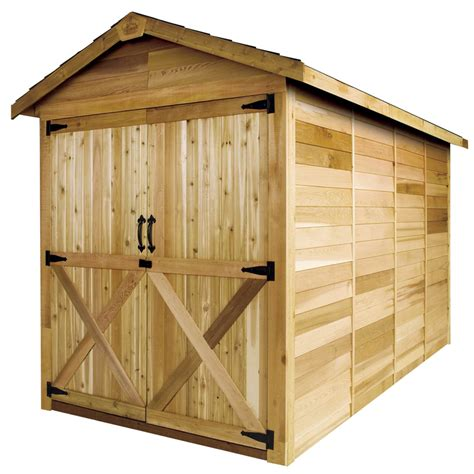 6 X 6 Wood Storage Shed by Shop Cedarshed Common 6 Ft X 6 Ft Interior Dimensions