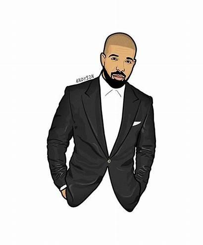 Drake Drawing Cartoon Ovo Champagnepapi Rapper Drawings