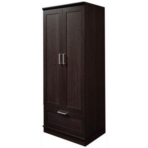 storage cabinets home depot sauder home visions laminate wardrobe storage cabinet with
