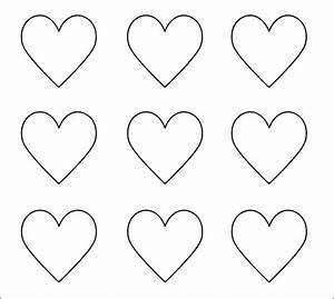 heart templates download free documents in pdf word psd With small heart template to print