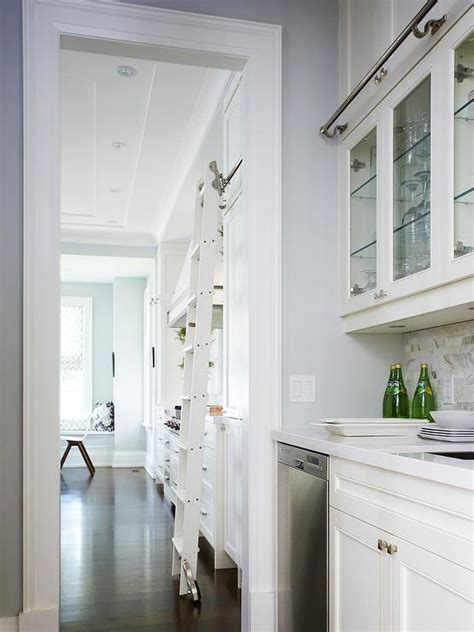 butler pantry  phillip jeffries imperial gates wallpaper transitional kitchen