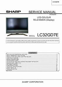 Sharp Lcd Tv Lc32gd7 Service Manual Download  Schematics