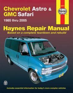 online service manuals 1996 gmc safari on board diagnostic system 1985 2005 chevy astro gmc safari mini van haynes repair manual