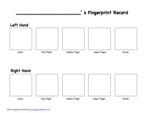 Fingerprint Paper Template - Costumepartyrun