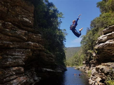 kloofing canyoning adventures eden cliff route jumping south africa garden wilderness activities climbing moving dirtyboots za boots sa canyon operators