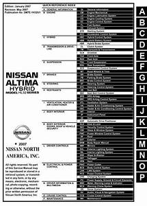 Nissan Altima Hybrid Model L32 Series 2007 Service Manual