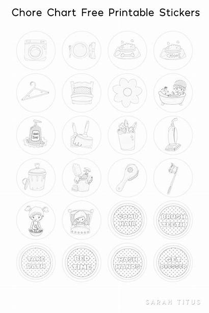 Chore Chart Stickers Printable Coloring Keep