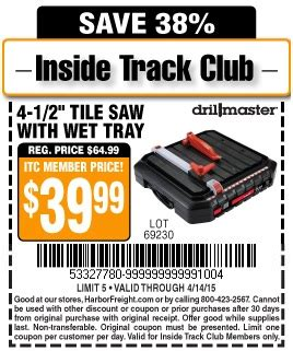 Harbor Freight Tools Tile Saw by Harbor Freight Tools Coupon Database Free Coupons 25