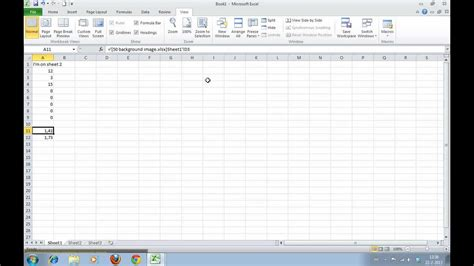 how to create a cell reference to another worksheet or