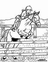Horse Coloring Riding Pages sketch template