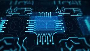 Futuristic Animated Blue Circuit Board Motion Graphics