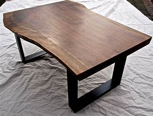 buy a hand crafted live edge walnut coffee table made to With small live edge coffee table