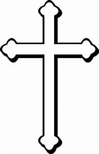 Simple Cross Outline - ClipArt Best