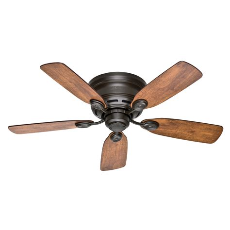 Flush Mount Dual Motor Ceiling Fan by Shop Low Profile Iv 42 In New Bronze Indoor Flush