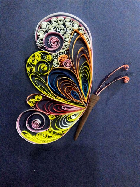 butterfly paper quilling nithyashree nadar quilling