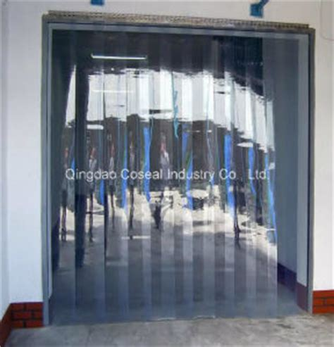 china transparent plastic pvc curtain for cold