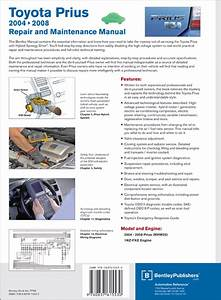 Back Cover - Toyota Prius Repair And Maintenance Manual  2004-2008 - Bentley Publishers