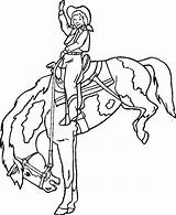 Coloring Pages Bronco Printable Bucking Animal sketch template