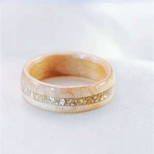 wood ring wooden wedding band gold ring wood rings for With womens wooden wedding rings
