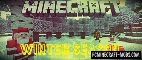 winter season minecraft pe bedrock mod   pc