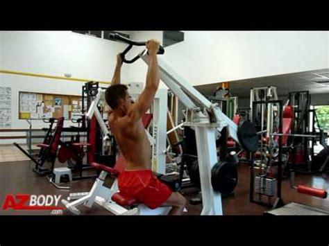 la chaise exercice musculation musculation du dos tirage machine convergente