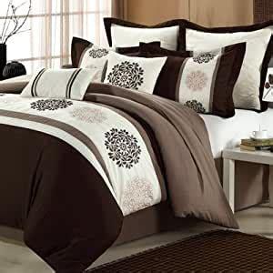 amazoncom chic home beijing  piece comforter set size