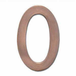 copper numbers house numbers and letters bellacor With copper house numbers and letters