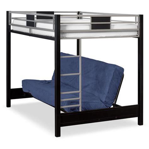 futon bunk beds samba bunkbed matte black in 2019 for real